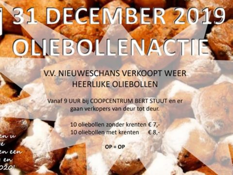 31 december: oudjaarsmiddag & oliebollen actie!